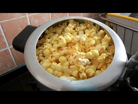 Popcorn Recipe at Home in Hindi | Homemade Popcorn in Cooker in easy steps | Crispy Popcorn