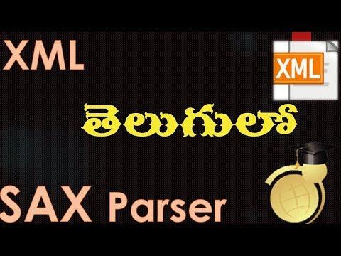 XML in Telugu - SAX Parser Example Part 1.wmv