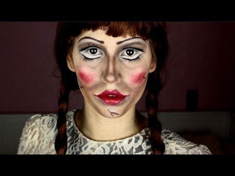 annabelle doll halloween make up tutorial