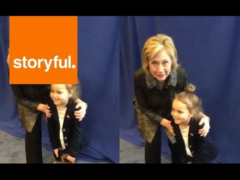 Hillary Clinton Meets A Miniature Lookalike on the Campaign Trail (Storyful, Cute)