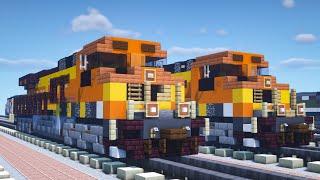 Minecraft BNSF C44-9W Dash 9 Locomotive Tutorial
