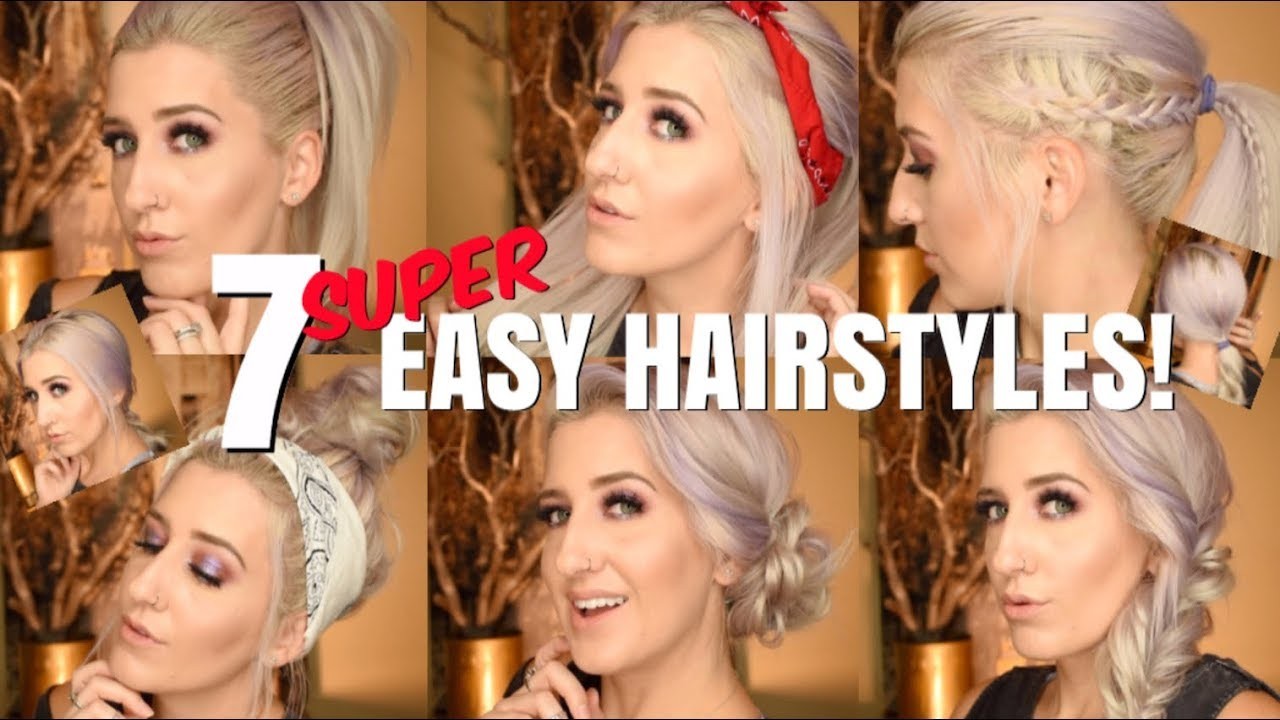 7 Easy Summer Hairstyle Tutorials Youtube