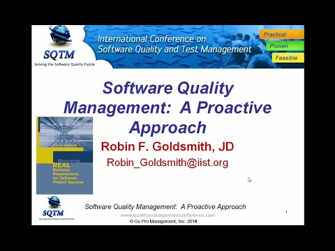Software Testing Training: Software Quality Management: A Proactive Approach