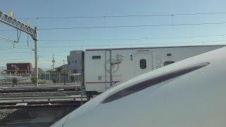 2017年11月12日 九州新幹線 新幹線フェスタ2017in熊本 団体専用列車 熊本駅から熊本総合車両所までの車窓