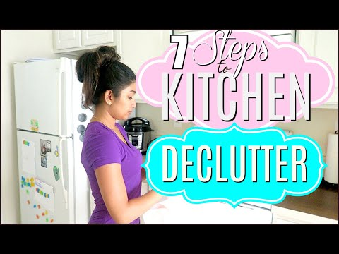 Clean with me kitchen | Clutter free kitchen | Packing for moving