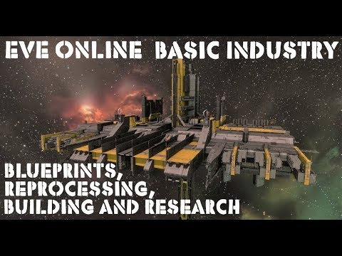 Eve Online Basic Guide To Industry: Blueprints, Building, Research And Reprocessing