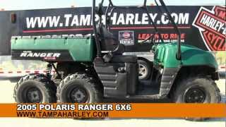 USED 2005 Polaris Ranger 6X6 UTV for sale