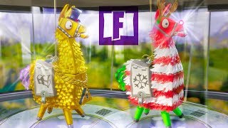 FORTNITE : Opening SO MANY Llamas! - LEGENDARY Troll Truck Llama & 10,000 Snowflake Tickets!