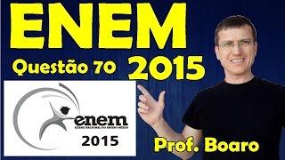 ENEM 2015 - QUESTÃO 70 - PROVA AZUL - FISICA   Prof.  Marcelo Boaro