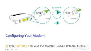 ADSL MODEM CONFIGURATION WITH NEW SECURITY FEATURES