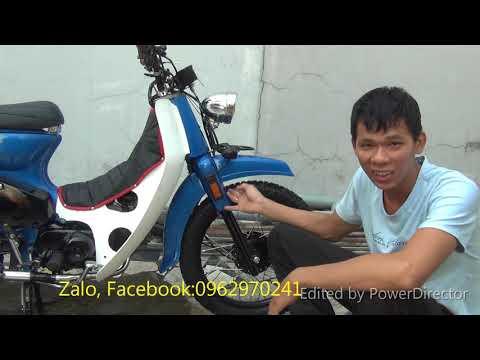 Honda C90    Honda Cub 50 độ Street Cub cực ngầu    Cub độ máy 100cc pô cafe