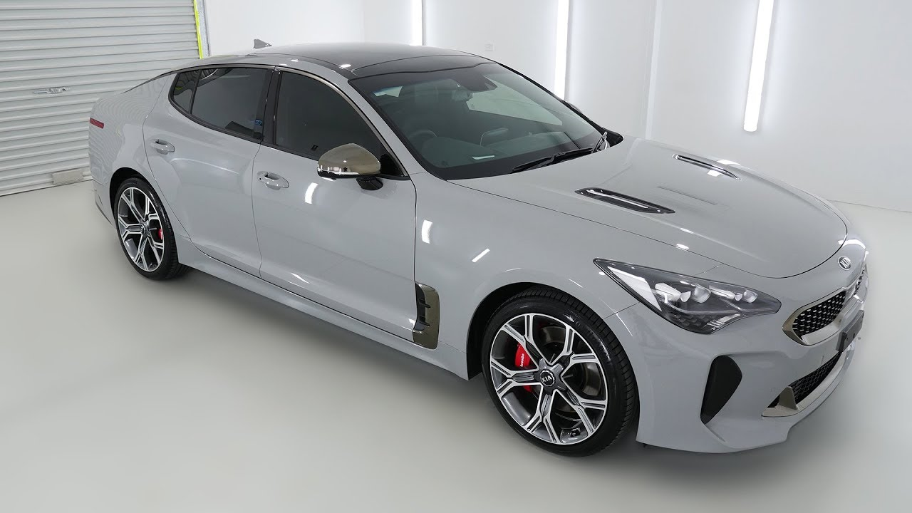 kia stinger gt ceramic grey auto sedan k009257 youtube kia stinger gt ceramic grey auto sedan k009257