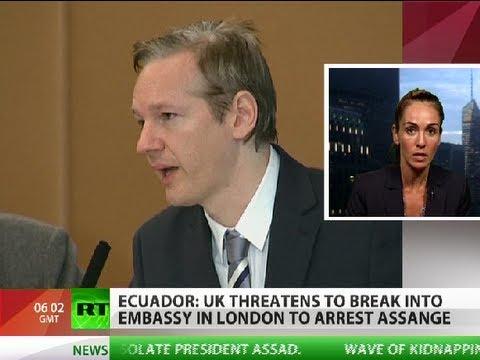 UK threatens to 'assault' Ecuador embassy to arrest Assange