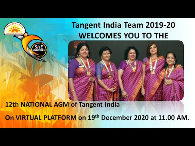 Tangent India 12th National AGM on 19-Dec
