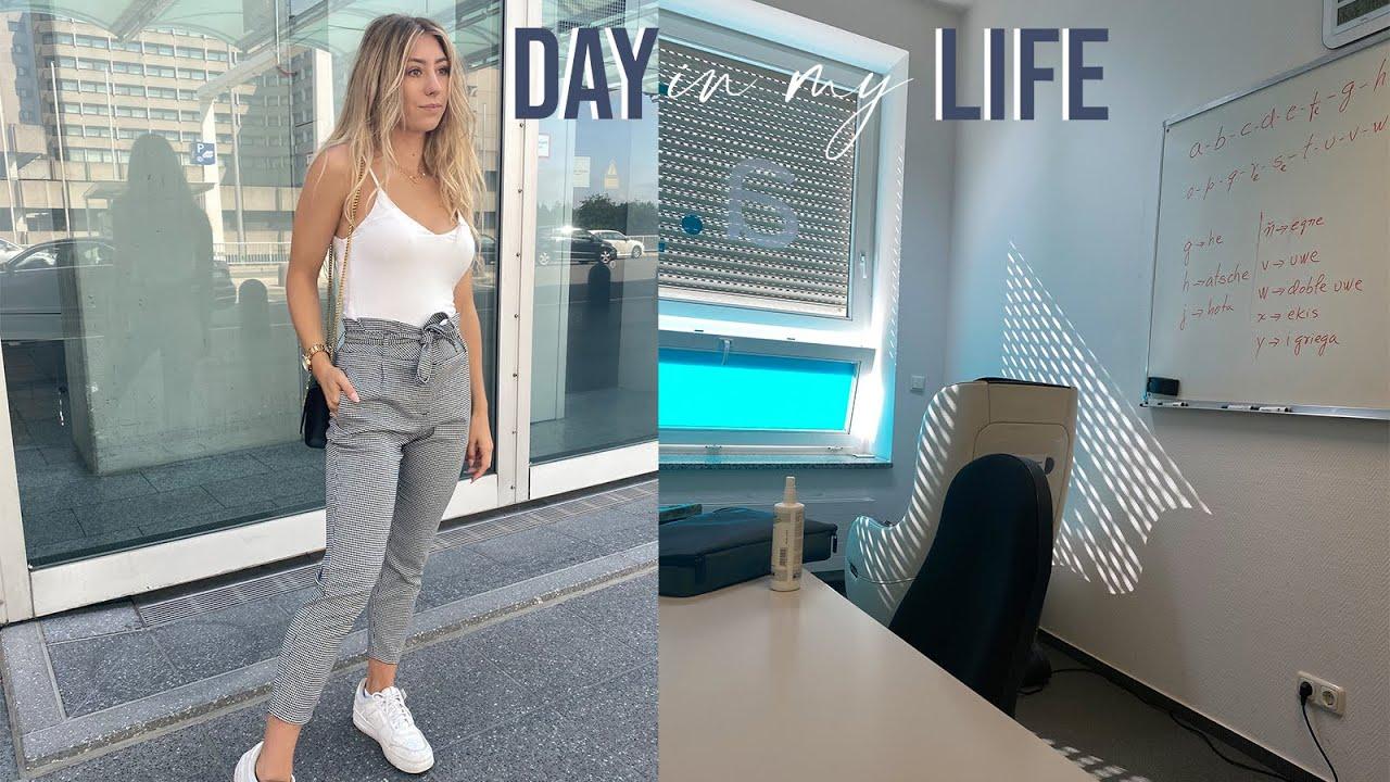 DAY IN MY LIFE   Sprachschule, Skin update (meine Tipps und Produkte) & neue Fitnessziele