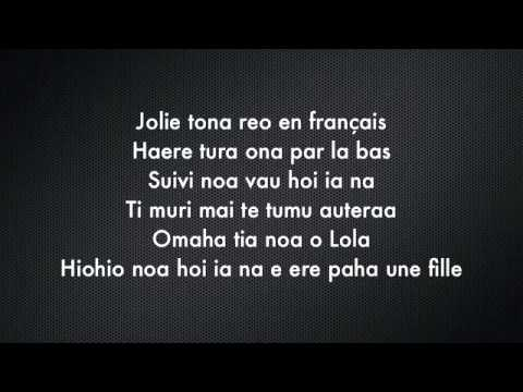 TAHITIAN DJ feat DJ KAI   Omaha tia noa o Lola Lyrics Paroles