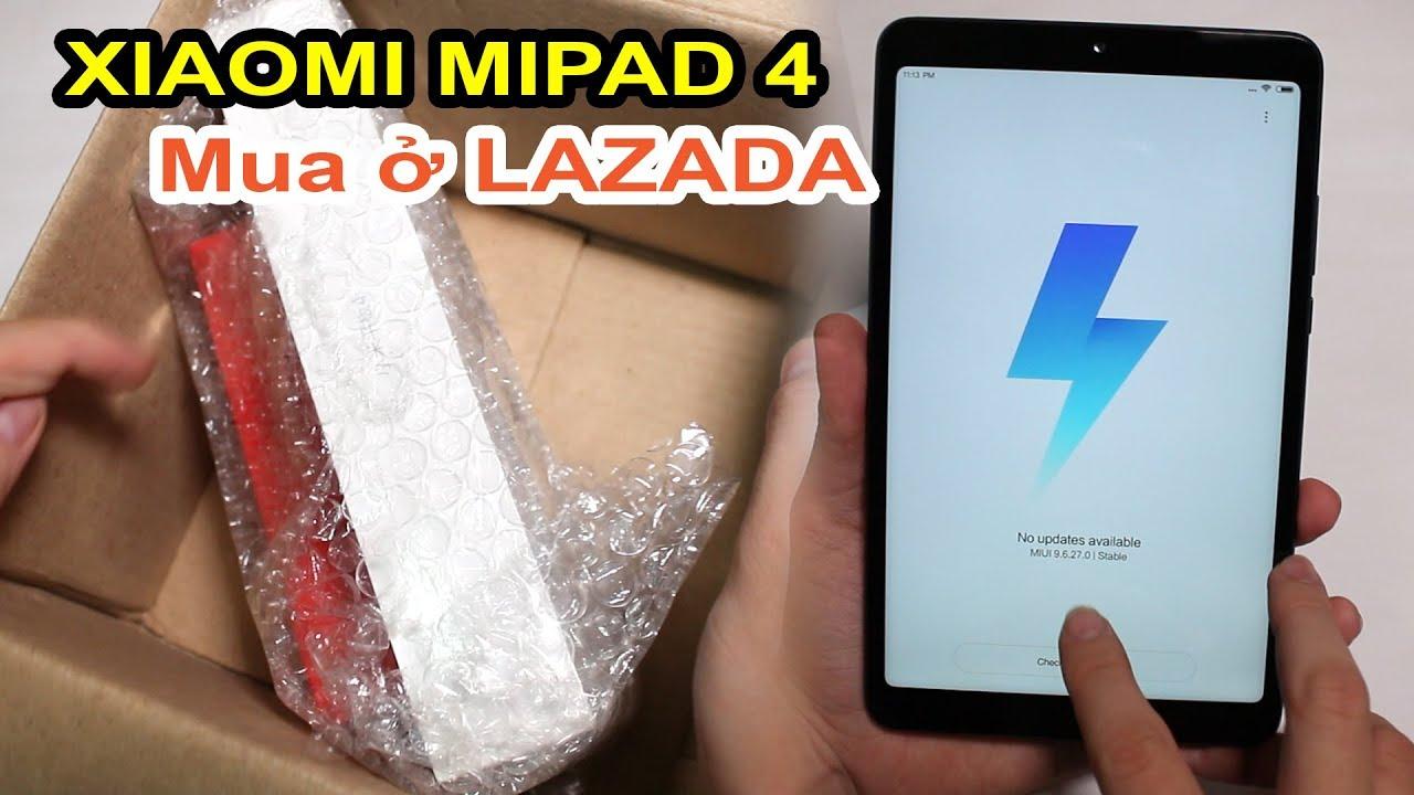Mở hộp Xiaomi Mipad 4 đặt trên LAZADA, SHOPEE giá 3tr7. Snapdragon 660 rẻ nhất! - MUA HÀNG ONLINE