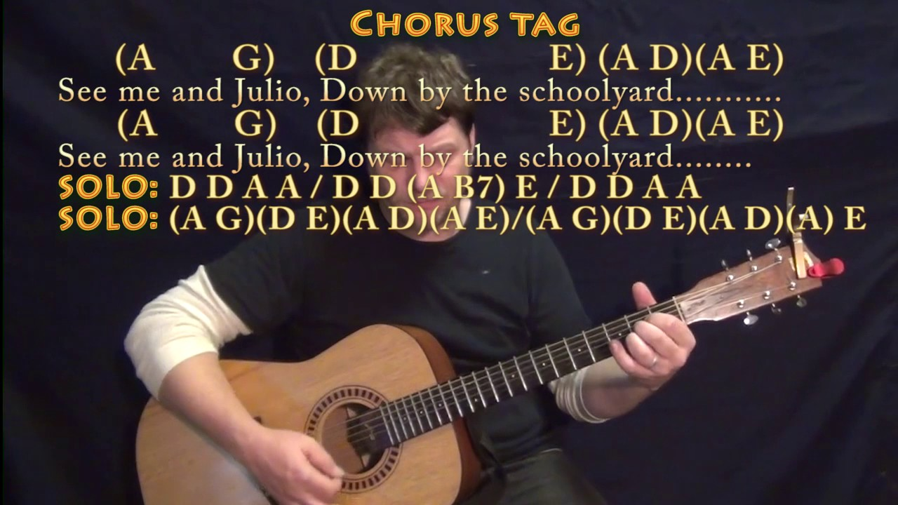 Me And Julio Down By The Schoolyard Paul Simon Strum Guitar Cover