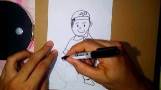 como dibujar un plomero-how to draw a plumber