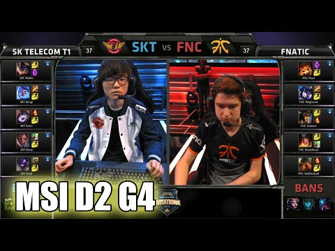 SK Telecom T1 vs Fnatic | MSI Group Stage Day 2 Mid Season Invitational 2015 | SKT vs FNC MSI 60FPS