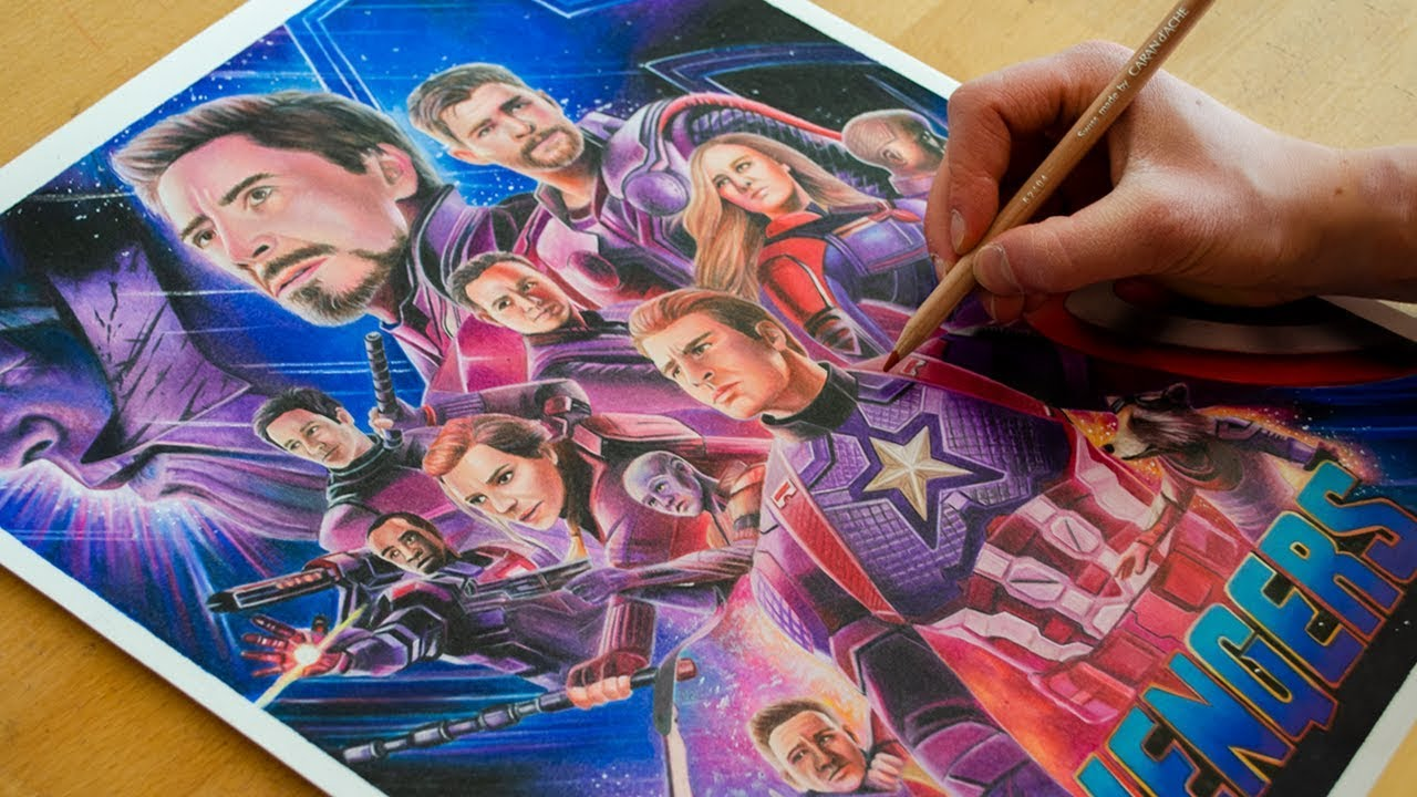 Drawing Avengers Endgame 2019 Nimauke