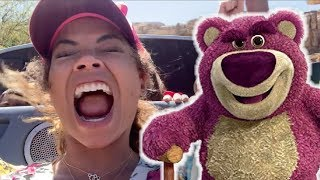 Toy Story 4 Toys are Missing! Lotso Huggin Plays Tricks on YouTube Family  at Disneyland