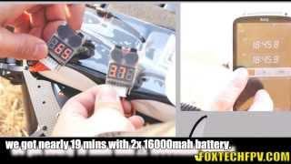 Foxtech K130 16kg Fly Time Test