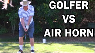 BEST GHILLIE SUIT GOLF COURSE AIR HORN PRANK EVER!!