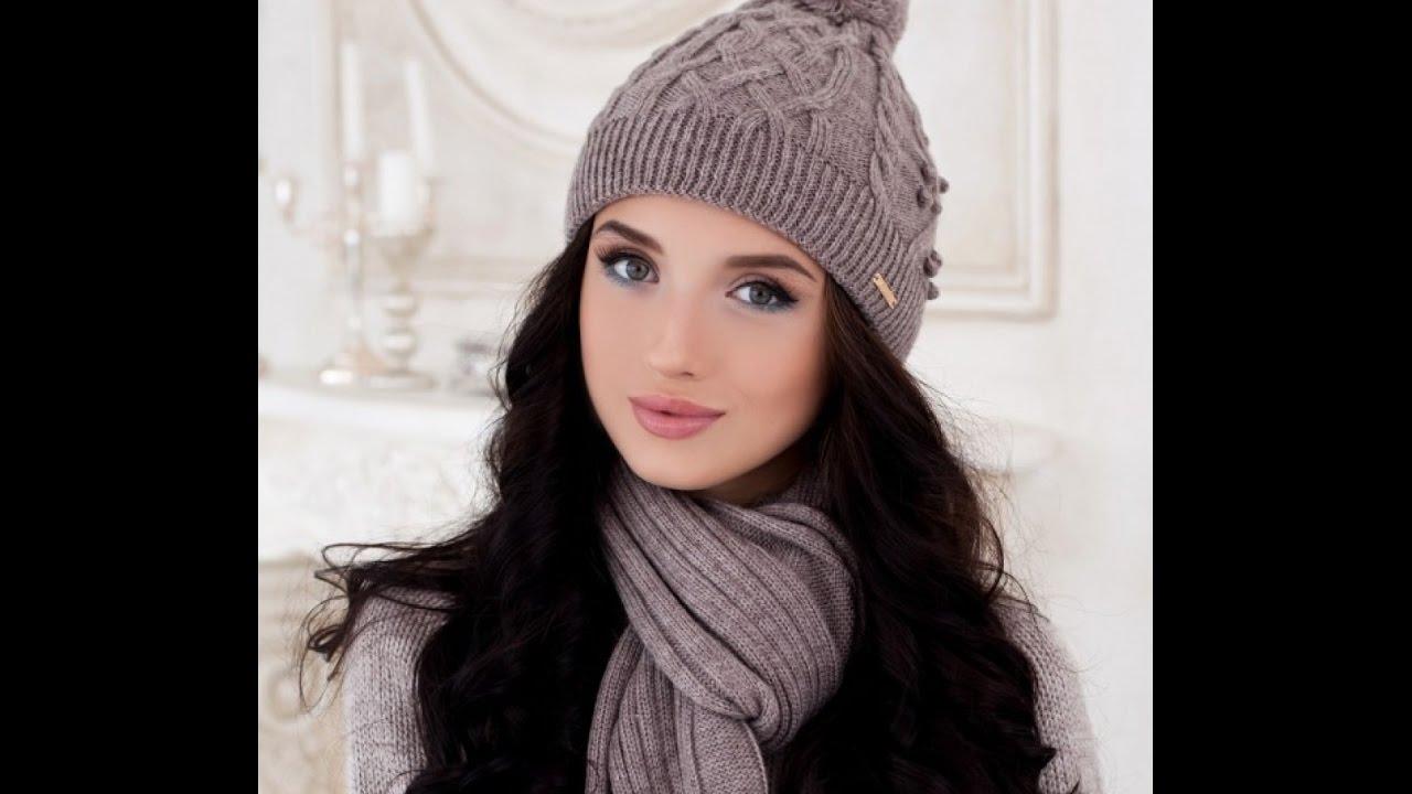 Вязаные модные женские шапки. Тренды моды в этом году. Зима. - YouTube 7e95539694e16