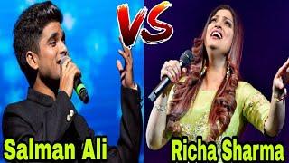 Salman Ali VS Richa Sharma Fight || तबाही सुरों का ऐसा मुकाबला कभी नहीं देखा होगा ||