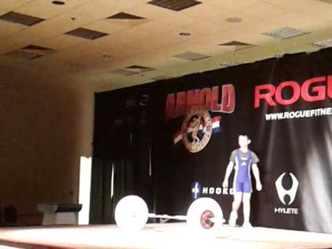 Kyle Holman 28-30-32kg C&J attempts. Arnold 2013