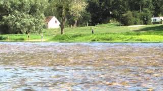 Camping La Poterie vu de la Loire - 37530 Mosnes