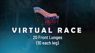 20 Front Lunges - Soldier Rush Virtual Race