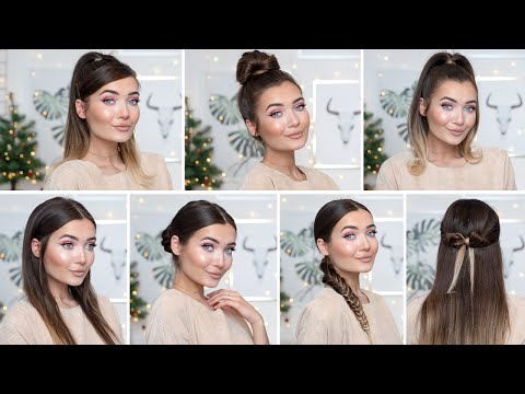7-cute-&-easy-hairstyles!-for-long-&-short-hair!