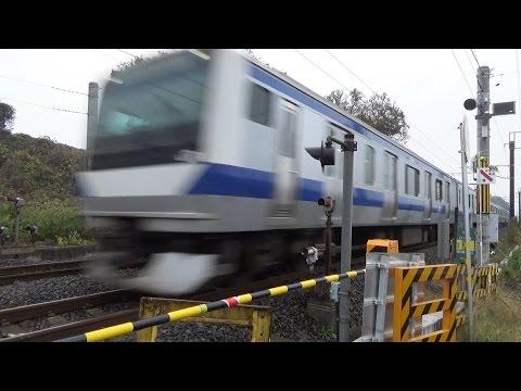 噂の銅像山踏切 常磐線130km/h 高速通過集 Joban Line Crossing