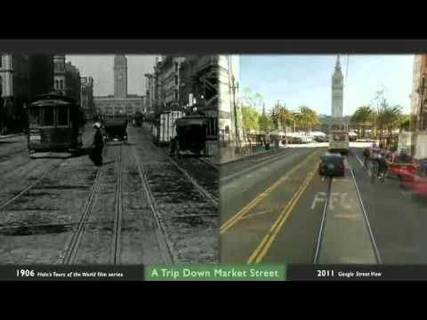A Trip Down Market Street, Then and Now