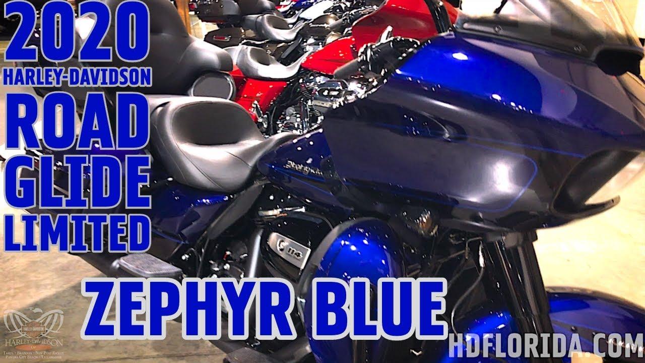 2020 HARLEY-DAVIDSON ROAD GLIDE LIMITED IN ZEPHYR BLUE AND ...