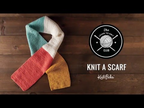 Learn To Knit Kit Learn To Knit Scarf Full Cl