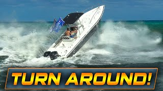 HAULOVER BOAT FORCED TO TURN AROUND!! | Boats at Haulover Inlet