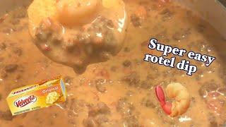 Rotel dip  how to make rotel dip  shrimp nachos