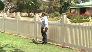 Pvc Picket Fence - Grafton Nsw
