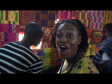 Inside Bonwire Famous Kente Weaving Village - Ghana Nov 2017 Tour