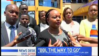 Governor Waiguru drum support for BBI, urge Kenyans to support the course for a united country