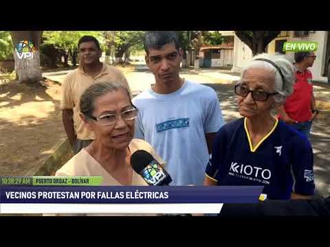 Venezuela - Vecinos de Puerto Ordaz protestan por fallas eléctricas  - VPItv