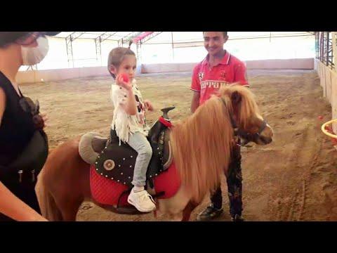 Download Esila Ayşe at çiftliğinde midilli ata bindi Ablası yarış atına bindi