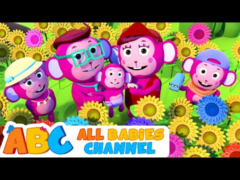 The Monkey Family Song | Learn Colors With Monkey Body Paint 3D Nursery Rhymes By All Babies Channel