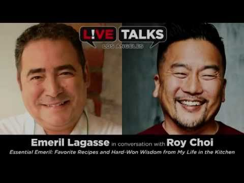 Emeril Lagasse in conversation with Roy Choi