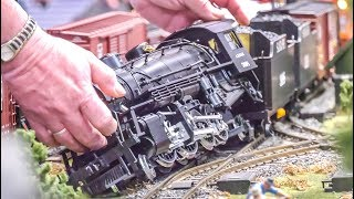 STUNNING Model Trains! Train Derail Crash! Large G Scale!