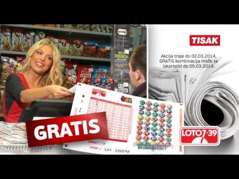 Super akcija na kioscima Tiska! GRATIS Loto kombinacija 7/39 uz kupnju dnevnih novina!