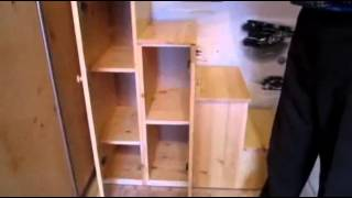 видео Комод лестница (детский стеллаж) для кровати своими руками